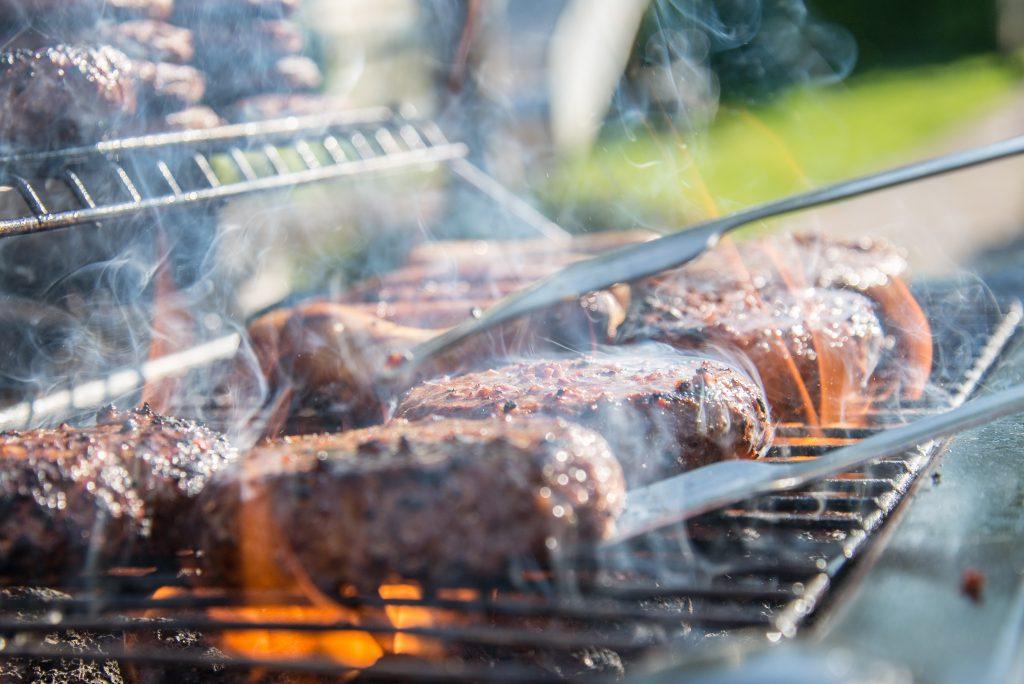 vlees op een bbq
